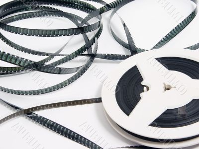 tangle of old film strip
