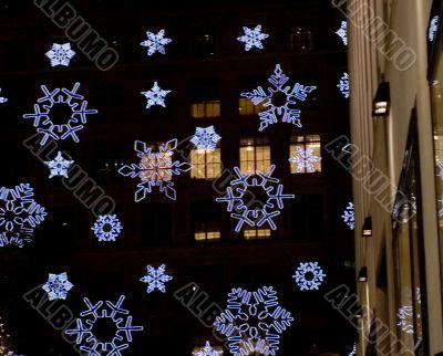Christmas Light Snowflake in New York City