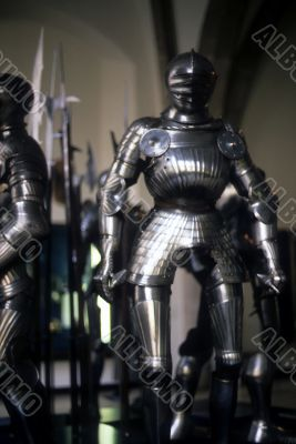 Armor of medieval knights