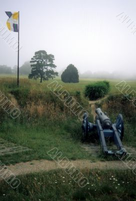 Cannon, French allied siege line