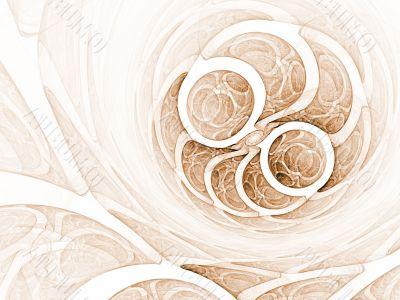 Fractal Abstract Background - Circular design