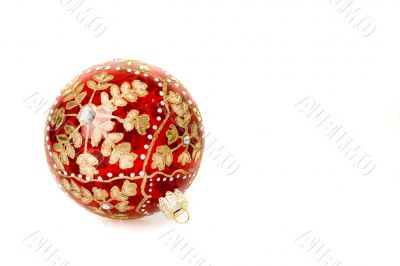 christmas ball with flake pattern