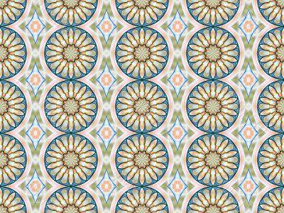 Digital Abstract Background - Mandala rows