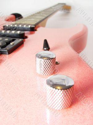 pink electric guitar