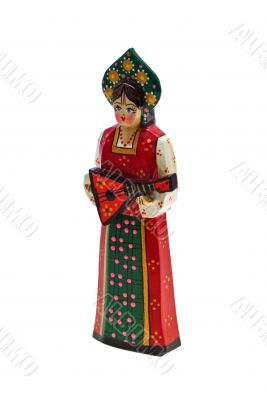 Female Christmas Musician With Clipping Path