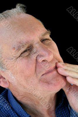 Cautious Senior Man