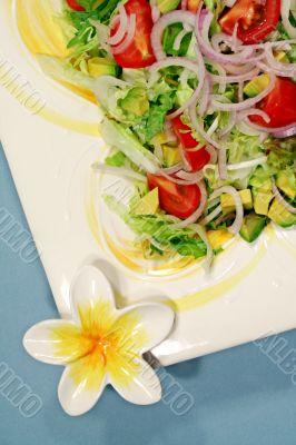 Salad On A Frangipani Platter 3