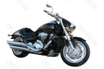 Black motorcycle.