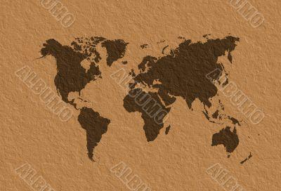 World map parchment