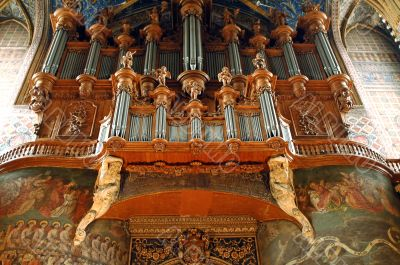 Albi - The cathedral`s organ