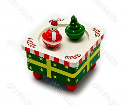 Dancing Santa Claus and Christmas Tree Music Box - Isolated