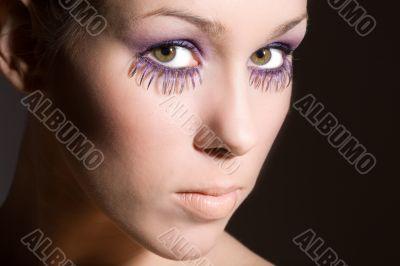 Purple eyelashes