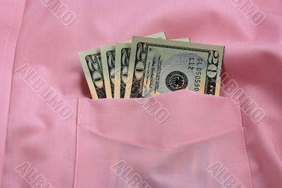 Money on pocket