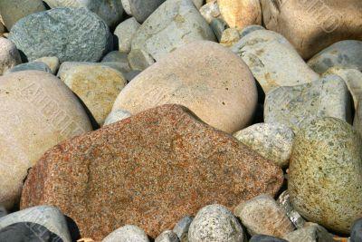 Beach rocks, rounded pebbles
