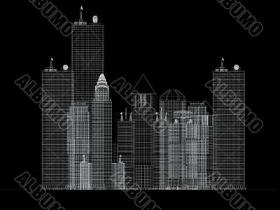 architecture blueprint of corporate buildings