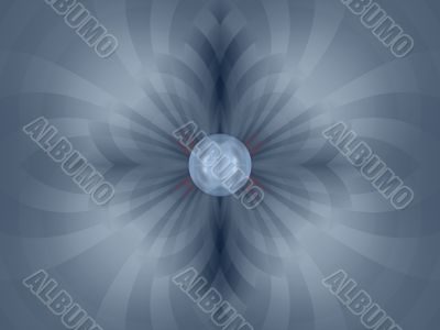 Fractal Abstract Background - Stripes and orb