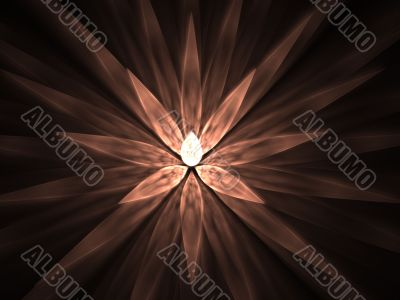 Fractal Abstract Background - Spike petals