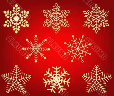 Snowflakes vector design decor illustration