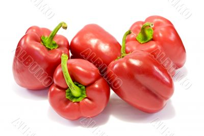 Red sweet bell peppers 5