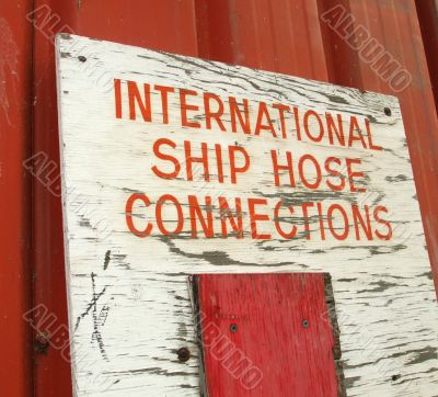 Old Shipping Sign