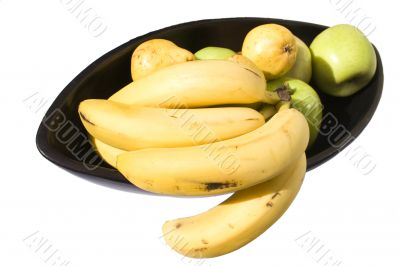 Served bananas, pears and apples 7
