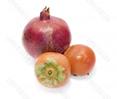 Date-plums and pomegranate