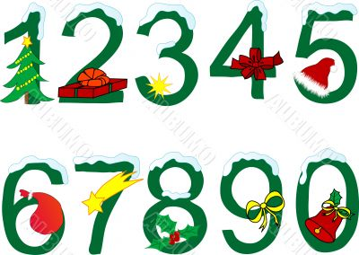 Christmas numeral