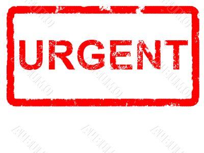 Grungey rubber stamp stating URGENT