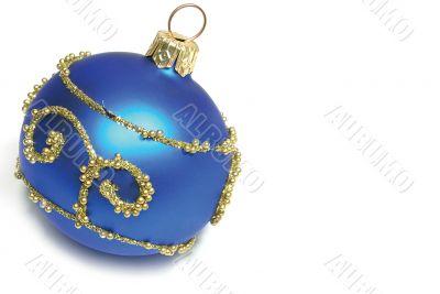 isolated Blue Xmas sphere