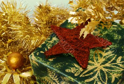 Christmas decoration with box