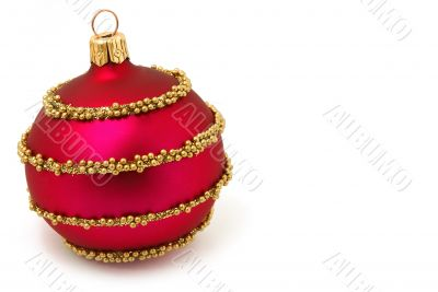 Isolated red Xmas sphere