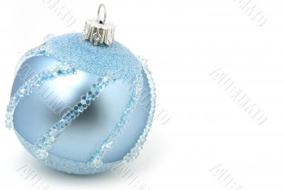 Isolated light blue Xmas sphere