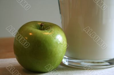 milk and apple