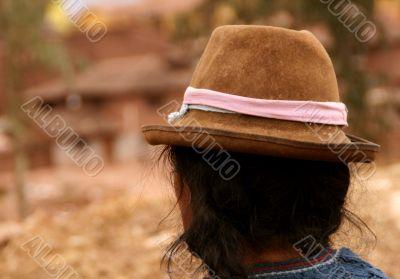 Women in peru with hat