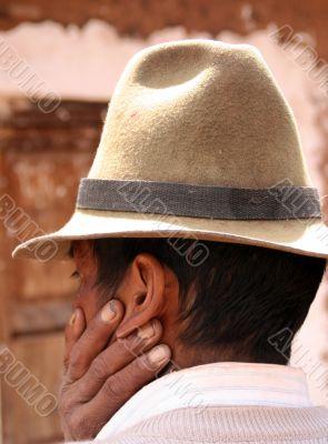 Man, farmer with hat