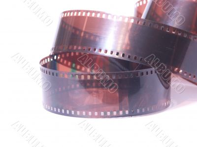 film roll on white background
