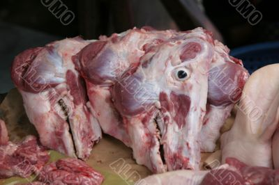 Pig`s heads
