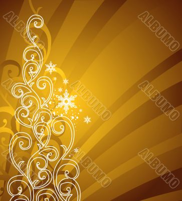 gold christmas background / vector