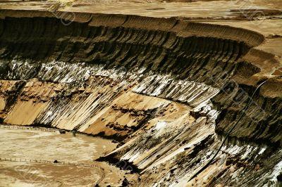Open pit, brown coal, digger