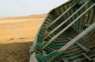 Fisherboat in the desert