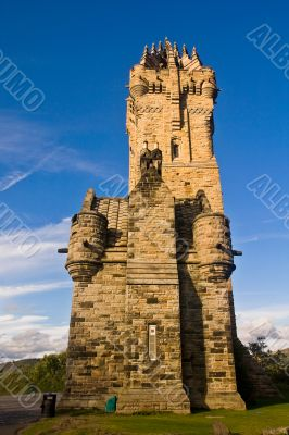 National Wallace Monument over blue sky