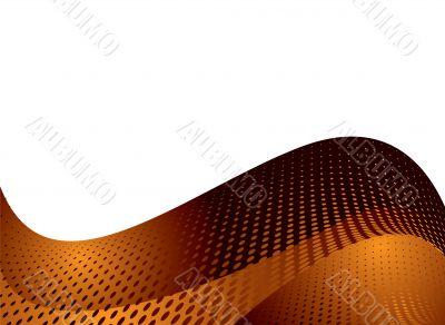 orange dotty wave