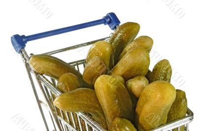 Cucumbers in a trolley