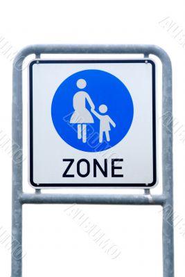 begin of pedestrian zone