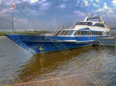 The Yacht at the mooring