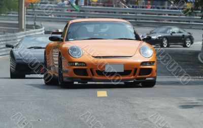 Orange, German sports car