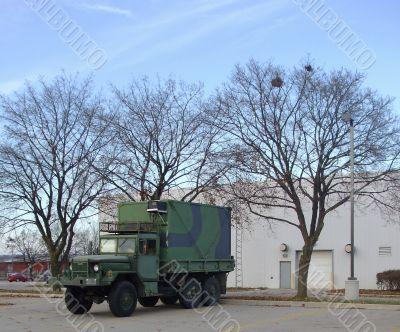 Camouflaged Military Vehicle