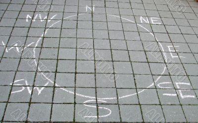 Chalk Drawn Compass