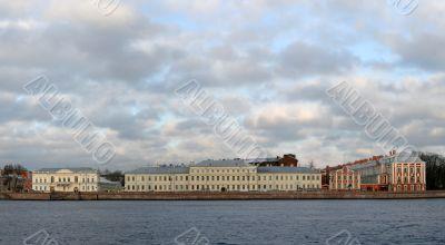 panoramic view of river Neva St.Petersburg Russia