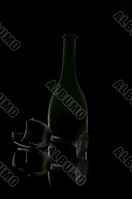 old emti bottle of red wine